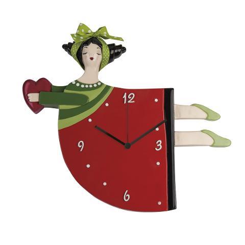 Orologio in ceramica decorata  Egan LE PUPAZZE