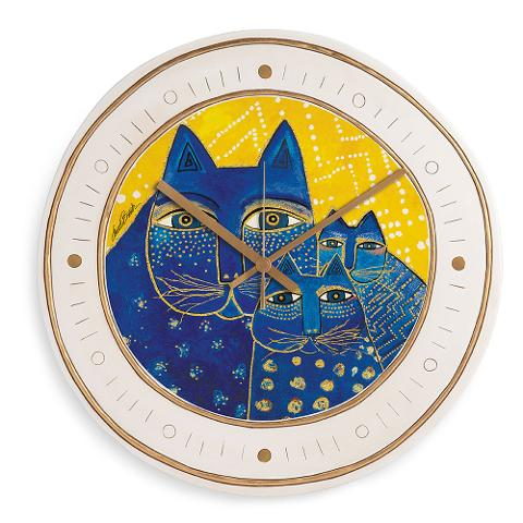 Orologio in ceramica decorata  Egan LAUREL BURCH