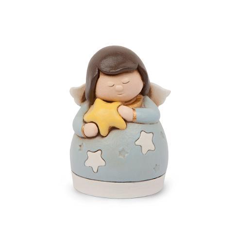Campanella angelo ceramica decorata Egan ANGELS I LOVE