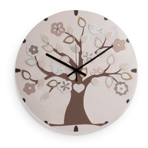 Orologio in ceramica decorata  Egan L' ALBERO DELLA VITA