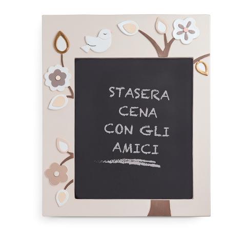 Lavagnetta in ceramica decorata e legno Egan L' ALBERO DELLA VITA