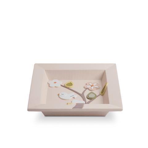 Vuotatasche quadrato in ceramica decorata Egan L' ALBERO DELLA VITA
