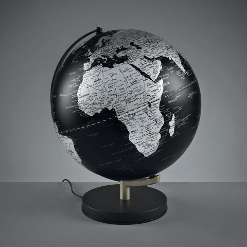 Mappamondo rotante illuminato cm30 con supporto e base in metallo  Mascagni  Atlante e Kronos