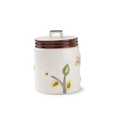 Barattolo in ceramica smaltata decorata Egan L' ALBERO DELLA VITA