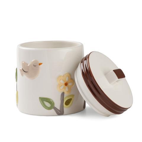 Biscottiera in ceramica smaltata decorata Egan L' ALBERO DELLA VITA