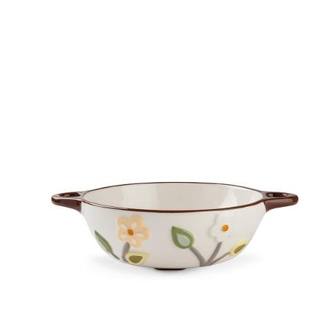 Porta frutta forato in ceramica smaltata Egan L' ALBERO DELLA VITA