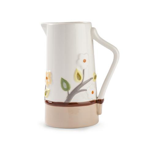 Caraffa in ceramica smaltata decorata Egan L' ALBERO DELLA VITA