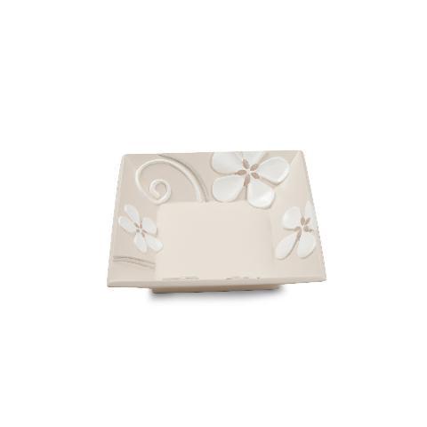 Vuotatasche quadrato in ceramica decorata Egan FLOWER MARGHERITA