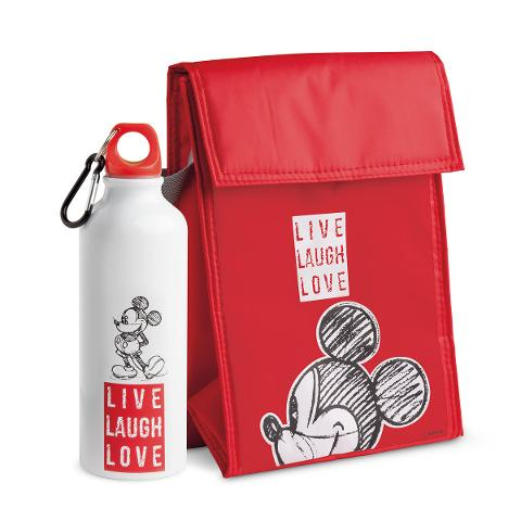 Set borsa termica in poliestere e bottiglia in alluminio decorate Egan LIVE LAUGH LOVE