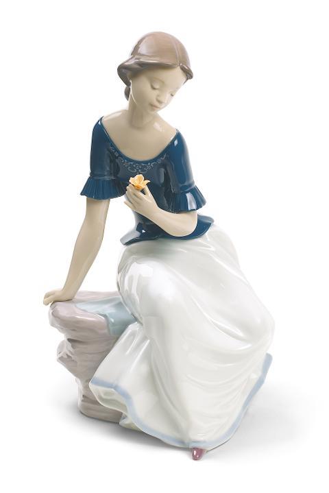 Scultura in porcellana spagnola  Nao by Lladro FIORE DI VITA  edizione speciale