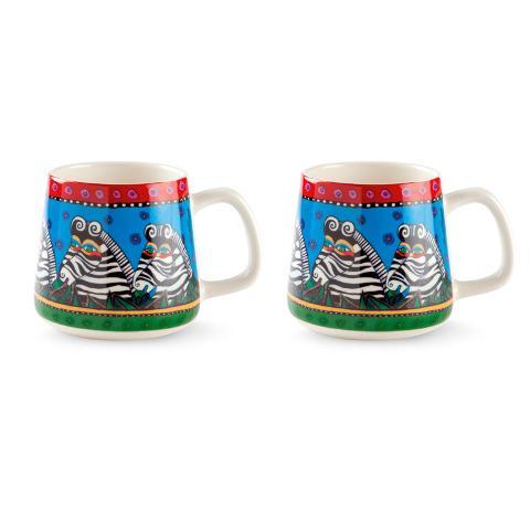 Set 2 tazze mug in porcellana decorata Egan LAUREL BURCH JUNGLE SONG