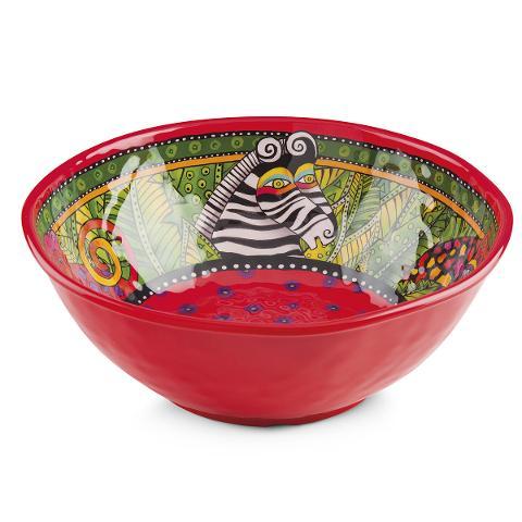 Insalatiera rotonda in melamina decorata Egan LAUREL BURCH JUNGLE