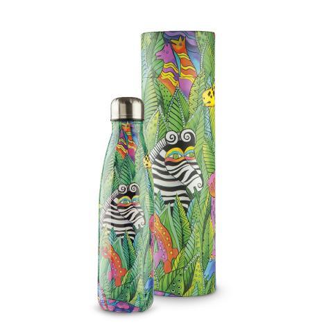 Bottiglia termica da viaggio in acciaio inox decorata Egan LAUREL BURCH JUNGLE SONG