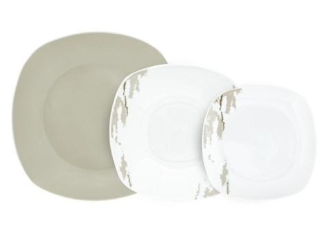 Servizio 19pz piatti in porcellana decorata  Villa Altachiara  HUMMUS