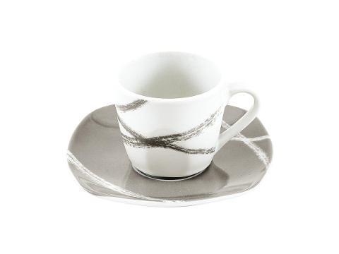 Servizio 6pz caffè in porcellana decorata  Villa Altachiara SANDY