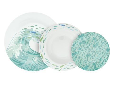 Servizio 18pz piatti in porcellana decorata  Villa Altachiara ESSENZA MARINA