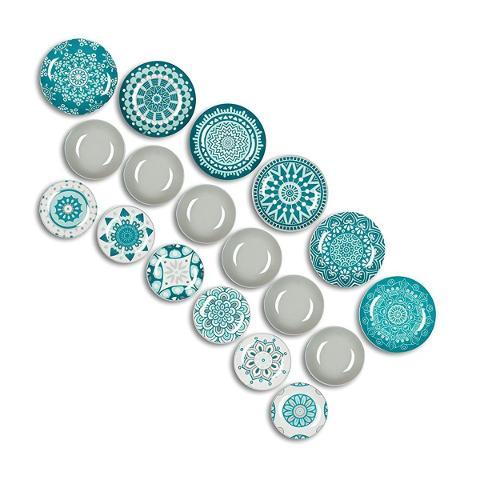 Servizio 18pz piatti in porcellana decorata  Excelsa MANDALA