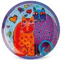 Piatto portata in porcellana decorata cm30 Egan LAUREL BURCH FANTASTIC FELINES