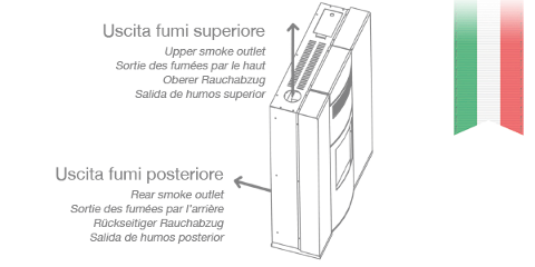 STUFA A PELLET/BIOMASSA DIELLE OSTRO 100 TUBE TURBO