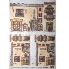 Carta riso paesaggio facciata toys decomania 33x48