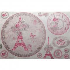 Carta riso bonjour Paris stamperia 33x48