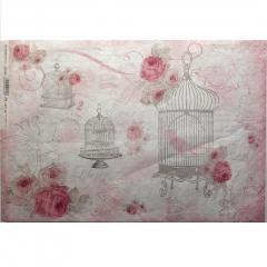 Carta riso Liberty stamperia 33x48