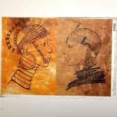 Carta riso volti etnici calambour 33x48