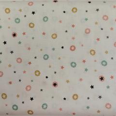 Decoro stelline colorate stafil fondo bianco H 120cm