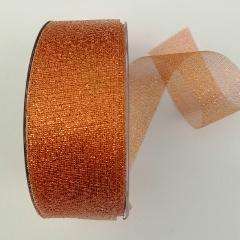 Nastro Decoro rete fitta rame metallizzato marianne hobby Larghezza 4 cm