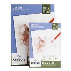 Blocco Drawing Dessin Canson formato A 3 29,7x42cm  160g/mq collato