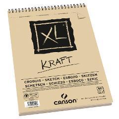 Blocco XL KRAFT Canson formato A 4 21x29,7cm  90g/mq