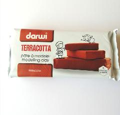 pasta  per modellare darwi colore terracotta panetto da 1kg