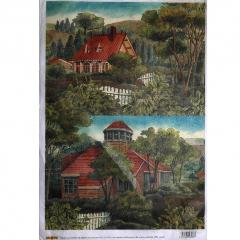 Carta riso villa in campagna stamperia 33x48