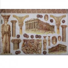 Carta  riso tempio greco stamperia 33x48