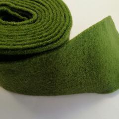 fascia di feltro in lana cotta di colore verde scuro stafil 15cm x 1 mt