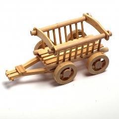 Carro in miniatura marianne hobby  legno naturale cm 14x6