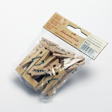 Mollette di legno 2 misure assortite