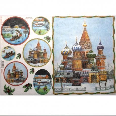 Carta riso paesaggio russo stamperia 33x48