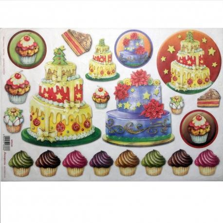 Carta riso torte e pasticcini stamperia 33x48