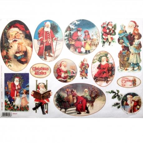 Carta riso Christmas wishes stamperia 33x48