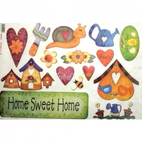 Carta home sweet home stamperia 33x48