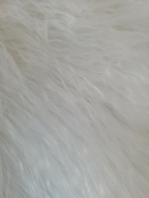 Tessuto Peluche Eco Pelliccia a pelo lungo Bianca  arti e grafica 150x30cm