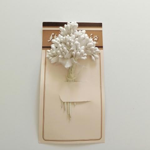 Bacche bianche stamperia 12cm