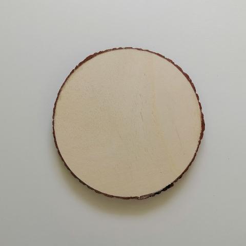 Disco in legno con corteccia - Ceppo da decorare  stafil 15 cm diametro x 1cm Spessore