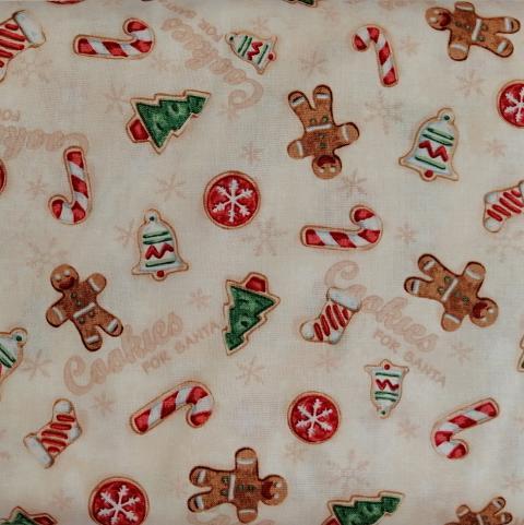 Decoro gingerbread  stafil fondo beige melange H 120cm