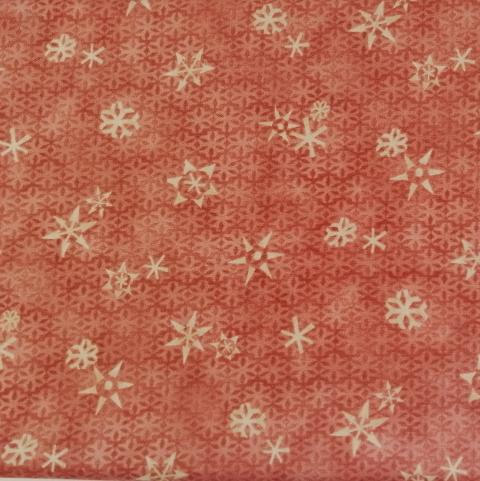 Decoro fiocchi neve avorio stafil fondo rosa legno H1.10