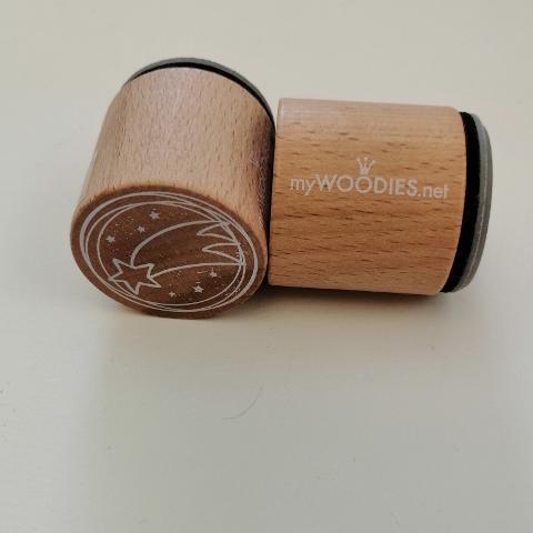 Stella Cometa  Timbro Woodies diametro 3cm