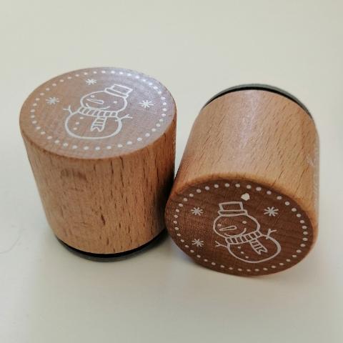 Pupazzo neve Timbro Woodies diametro 3cm