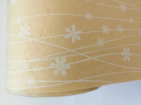 Pannolenci giallo pastello con decori crema marianne hobby 90x50cm
