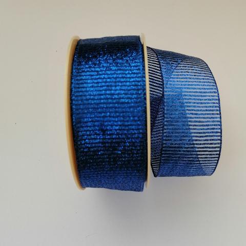 Decoro righe trasparenti Arti e Grafica  fondo blu metallizzato 4cm